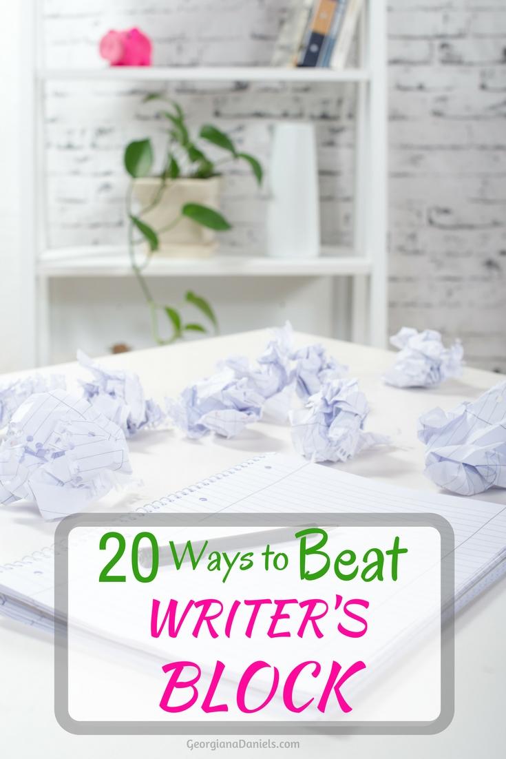 20 Ways to Beat Writer's Block
